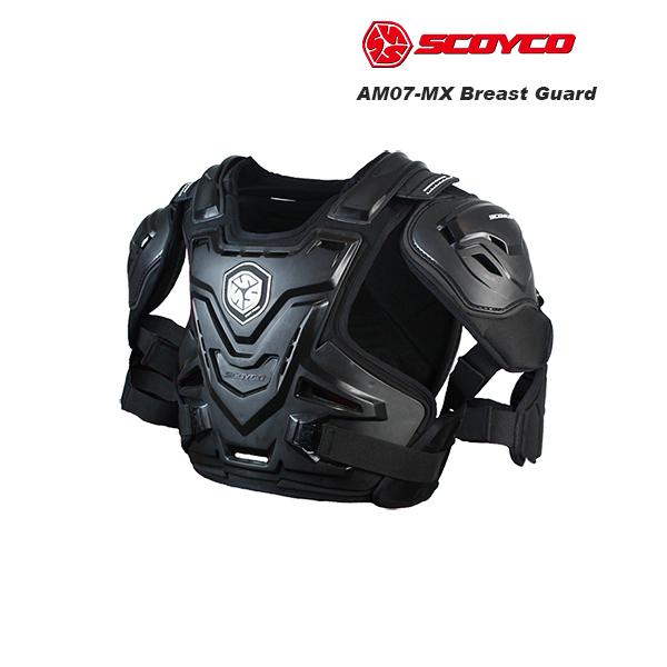 SCOYCO(スコイコ) AM07 Night Fury ブレストガード[ブラック/Lサイズ] AM07-BK-L
