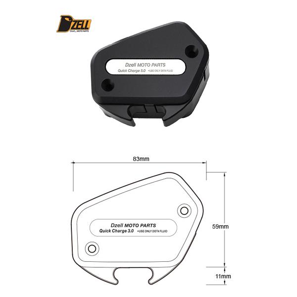 コルハート Dzell(ディーゼル) USB 2ポート HONDA ゴールドウイング('18~) [ブラック] CH780219