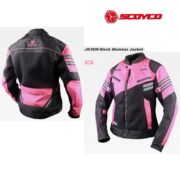 SCOYCO(スコイコ) JK36W メッシュレディースジャケット[ピンク/Lサイズ]  JK36W-PI-L