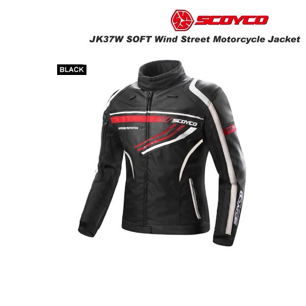 SCOYCO(スコイコ) JK37W SOFT WIND ジャケット レディースサイズ [ブラック/Mサイズ]  JK37W-BK-M