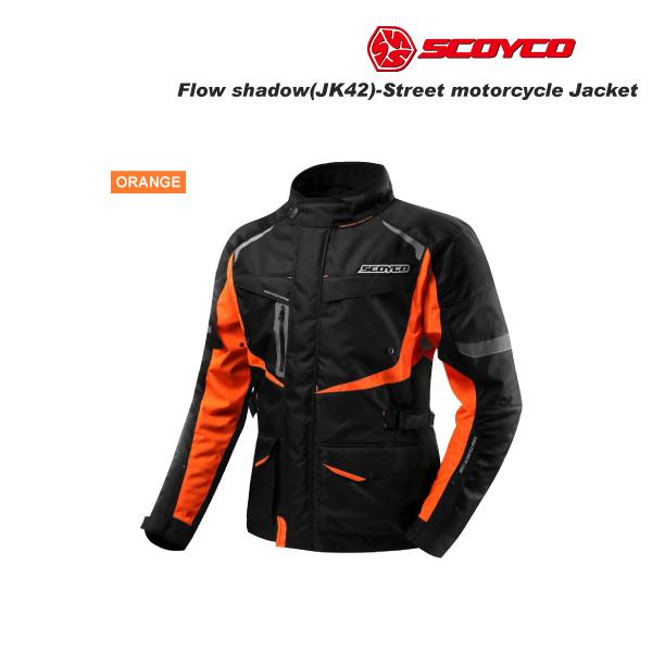 SCOYCO(スコイコ) JK42 ウィンタージャケット FLOW SHADOW[オレンジ/3XLサイズ]  JK42-OR-3XL