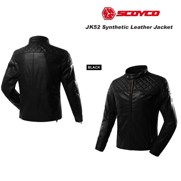 SCOYCO(スコイコ) JK52 レザージャケット[ブラック/Mサイズ]  JK52-BK-M