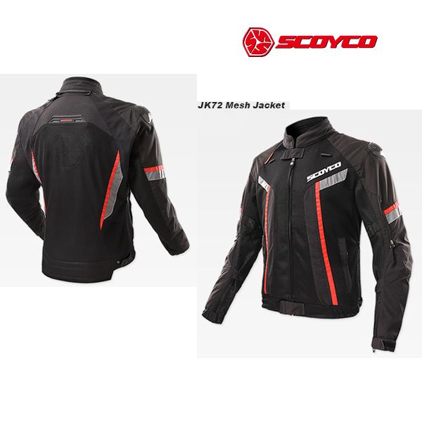 SCOYCO(スコイコ) JK72 メッシュジャケット[ブラック/Mサイズ]  JK72-BK-M