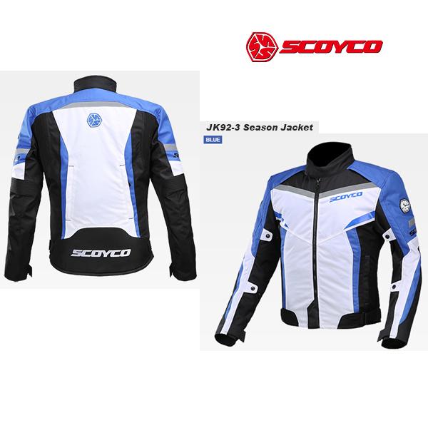 SCOYCO(スコイコ) JK92 3シーズンジャケット[ブルー/2XLサイズ]  JK92-BL-2XL