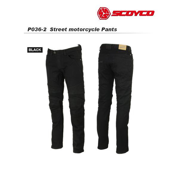 SCOYCO(スコイコ) P036-2 ウィンター ストレッチライディングパンツ[ブラック/L] P036-2-BK-L