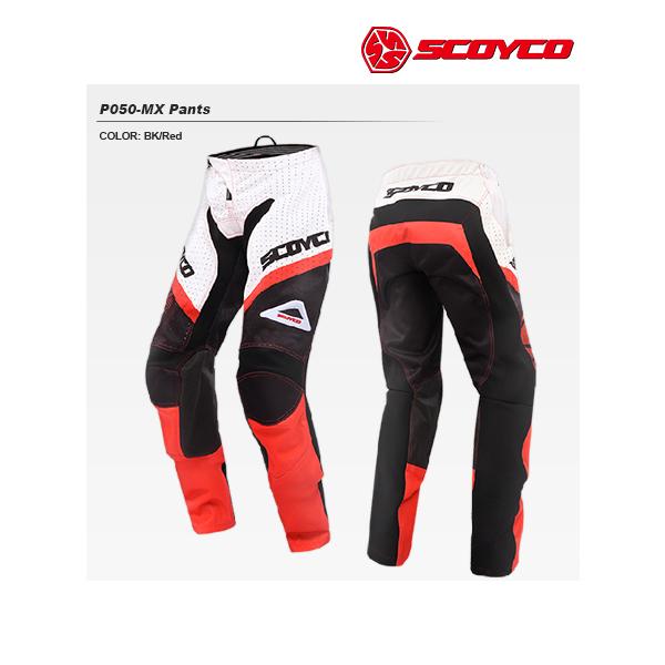 SCOYCO(スコイコ) P050 モトクロスパンツ[ブラック/レッド:S] P050-BK-RD-S