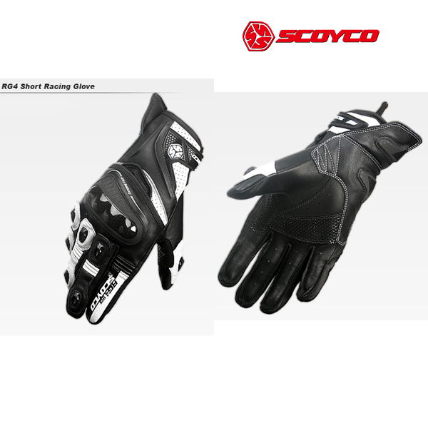 SCOYCO(スコイコ) RG4 ショートレーシンググローブ[ブラック/ホワイト:XLサイズ] RG4-BK-WH-XL