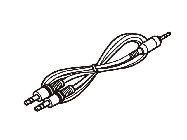 パナソニック 純正品 部品 交換用 コードレススピーカーシステム用接続コード 高い素材 お金を節約 RFX8344 ステレオミニプラグ⇔ピンプラグ×2 Panasonic
