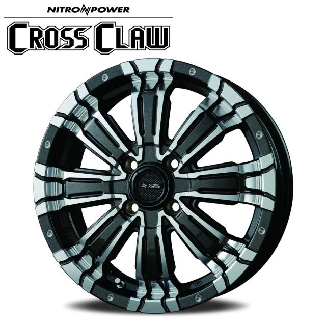 NITRO POWER CROSS CLAW 1本価格 15×5.0J 4-100 +48 ブラックメタリック/ミラーカット