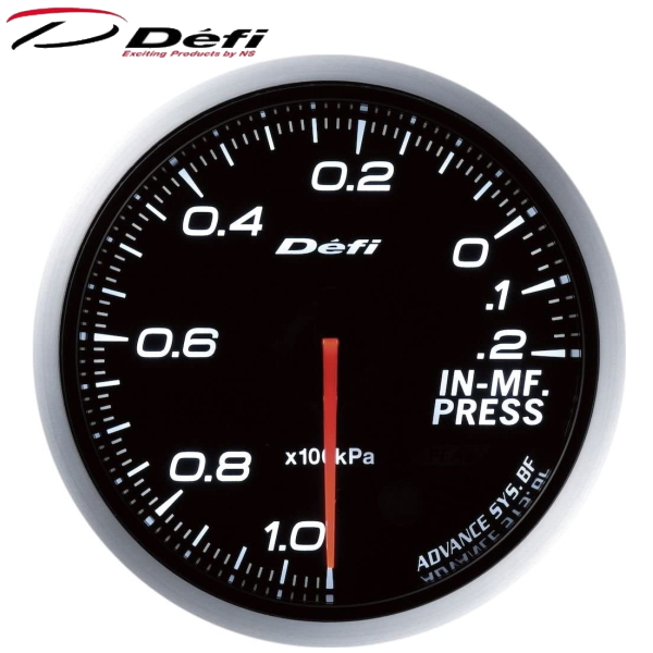Defi-Link ADVANCE BF 60φ白ホワイトインマニプレス計 -100kPa~+20kPa