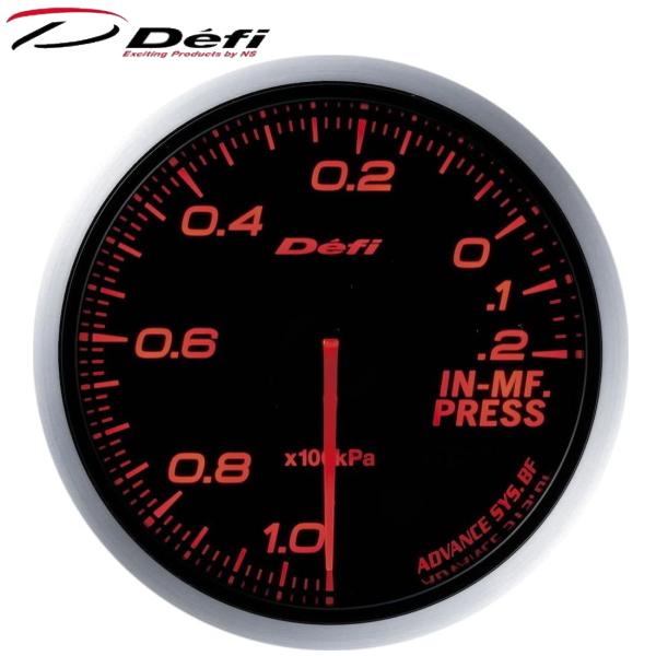 Defi-Link ADVANCE BF 60φ赤レッドインマニプレス計 -100kPa~+20kPa