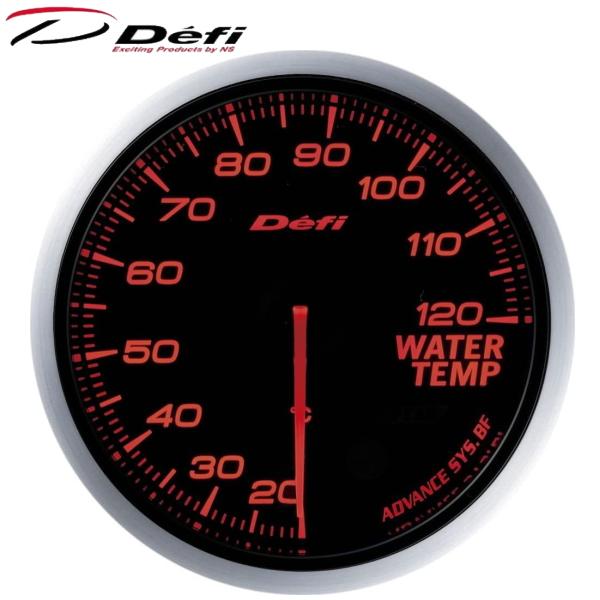 デフィーリンク アドバンスBF 60φ赤 水温計 20℃~120℃ Defi-Link ADVANCE BF 60φ赤レッド水温計 20℃~120℃