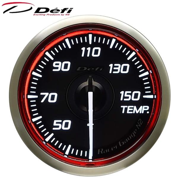 Defi Racer Gauge N2 52φ赤レッド油温計 温度計 30~150℃