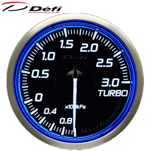 Defi Racer Gauge N2 60φ青ブルーターボ計 ブースト計 -100kPa~+300kPa