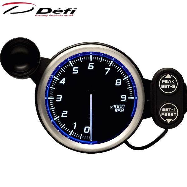 Defi Racer Gauge N2 80φ青ブルータコメーター 0~9000RPM