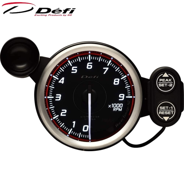 Defi Racer Gauge N2 80φ赤レッドタコメーター 0~9000RPM