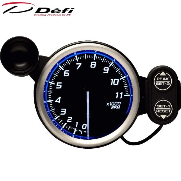 Defi Racer Gauge N2 80φ青ブルータコメーター 0~11000RPM