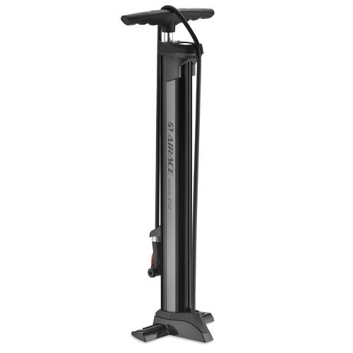 自転車 空気入れ 仏・米式対応 AIRACE(エアエース)INFINITY DGアルミフロアポンプ デジタルゲージ付 シルバー