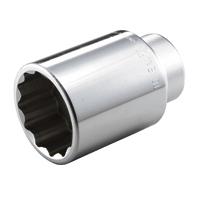 12角ディープソケット 6D-55L 19.0sq(3/4DR)ディープソケット(12角) 6D-55L TONE 二面幅寸法(mm)S:55寸法(mm)D1:76.0寸法(mm)D2:50.0寸法(mm)L1:35.0寸法(mm)L:10