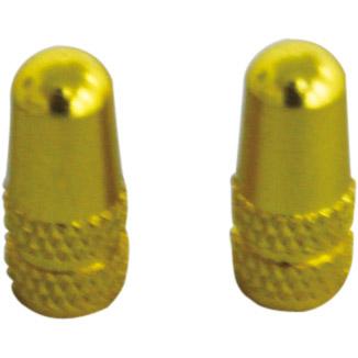 ALLIGATOR 72168 アルミバルブキャップ 仏式 ゴールド 1セット(2個入)