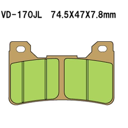 取寄 VD-170SRJL17X VD-170SRJL 17 X シンタードメタルレーシングパッド Vesrah(べスラ) 1セット