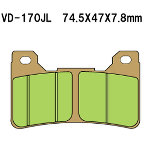 - 税込 取寄 VD-170SRJL XX 1セット べスラ 割り引き シンタードメタルレーシングパッド Vesrah