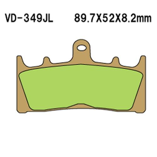 時間指定不可 - 取寄 買物 VD-349SRJL17 VD-349SRJL 17 シンタードメタルレーシングパッド べスラ 1セット Vesrah