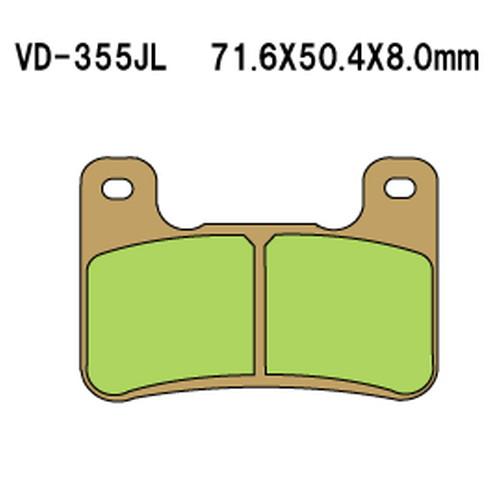 - 取寄 VD-355SRJL8 購買 VD-355SRJL 8 1セット Vesrah シンタードメタルレーシングパッド 人気ブランド べスラ