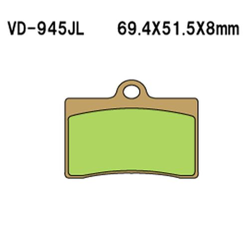 現品 - 取寄 VD-945SRJL17 VD-945SRJL 17 べスラ 1セット Vesrah 正規品 シンタードメタルレーシングパッド
