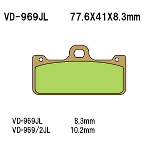 <title>- 取寄 VD-969 2SRJL17 デポー 2SRJL 17 シンタードメタルレーシングパッド Vesrah べスラ 1セット</title>