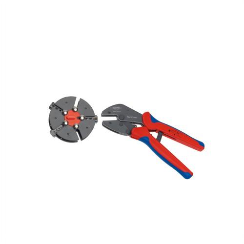 9733-01 9733-01 マルチクリンプ マガジン式圧着工具 KNIPEX(クニペックス) 全長:250mm 1個