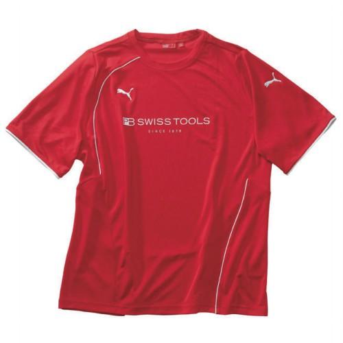 2751M 2751M PBスイスツール プーマTシャツ M レッド PB SWISS TOOLS サイズ:M身幅:53cm着丈:74cm肩幅:38cm 1個