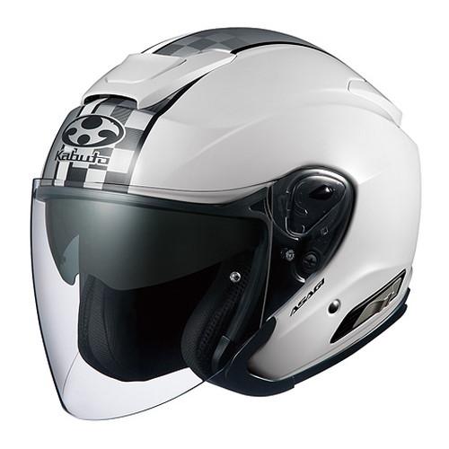 ヘルメット ASAGI SPEED ホワイト L OGK[オージーケーカブト]