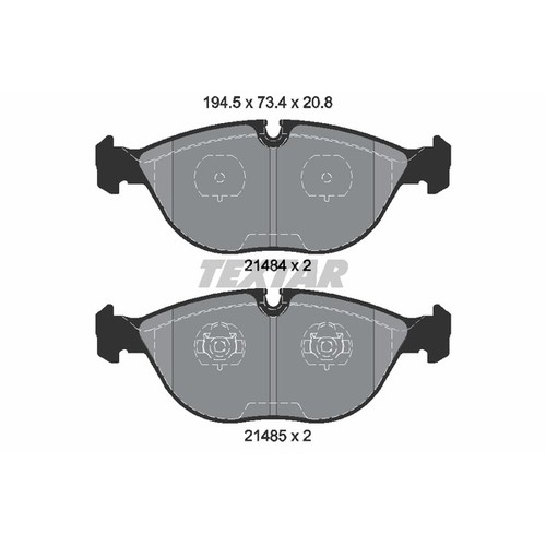 取寄 2148401 2148401 ブレーキパッド Textar 1セット(4枚入)