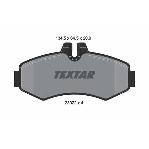 取寄 2302201 2302201 ブレーキパッド Textar 1セット(4枚入)