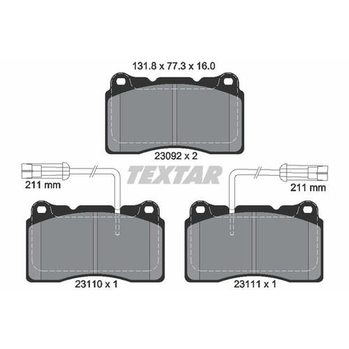 取寄 2309201 2309201 ブレーキパッド Textar 1セット(4枚入)