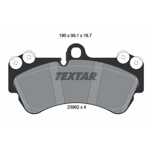 取寄 2369202 2369202 ブレーキパッド Textar 1セット(4枚入)