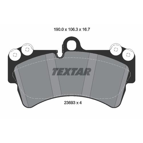 取寄 2369302 2369302 ブレーキパッド Textar 1セット(4枚入)