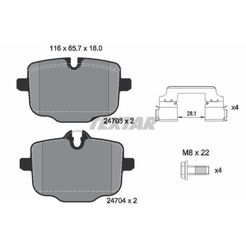 2470301 2470301 ブレーキパッド Textar 1セット(4枚入)