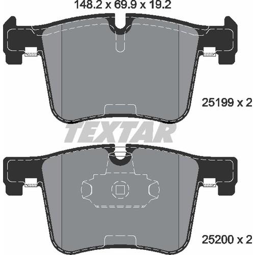 取寄 2519901 2519901 ブレーキパッド Textar 1セット(4枚入)