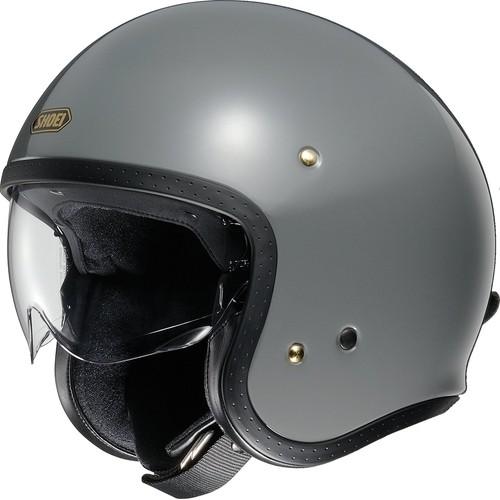 SHOEI ジェットヘルメット J・O ラットグレー L 1個【返品キャンセル不可】