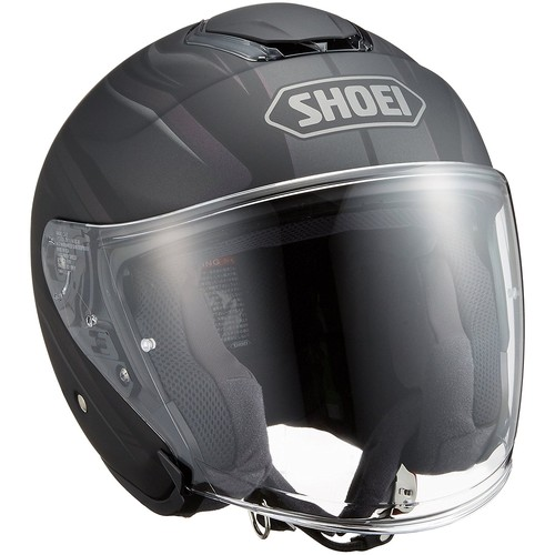 SHOEI ジェットヘルメット J-CRUISE PASSE TC-5 BLACK/SILVER L 1個【返品キャンセル不可】