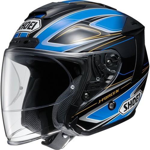SHOEI ジェットヘルメット J-FORCE4 BRILLER TC-2(BLUE/BLACK) XL 1個【返品キャンセル不可】