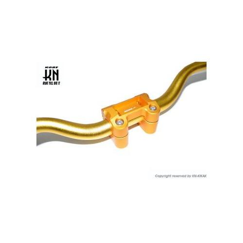 取寄 KS-HABW-BGDSET チューニングハンドルバーブラケット [BW's125] 28.6Φファットバー付/ゴールド KN企画 1個