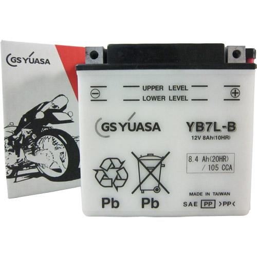 【エントリーでポイント最大26倍!(10月1日限定!)】YB7L-B GSユアサ 液別タイプ(開放型) バッテリー SR125/SR400対応