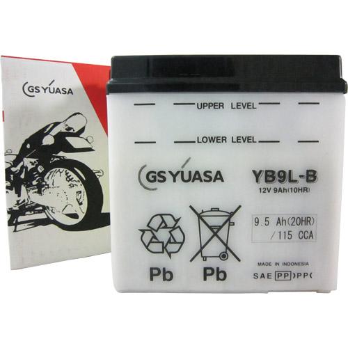 YB9L-B GSユアサ 液別タイプ(開放型) バッテリー レブル/CS250/KH500対応