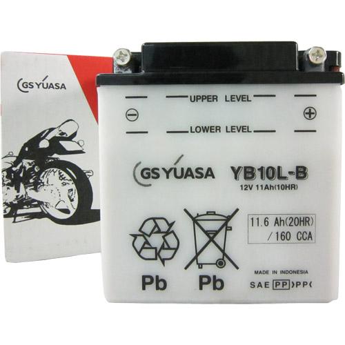 YB10L-B GSユアサ 液別タイプ(開放型) バッテリー YB125/K125/Z200/GSX550L対応