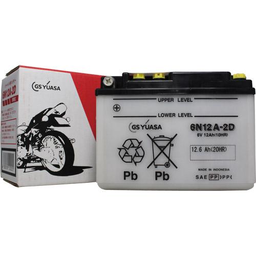 6N12A-2D GSユアサ 液別タイプ(開放型) バッテリー CD125T対応