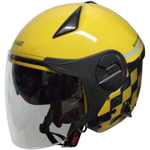 - ジェットタイプ RN-999W ルノー 初売り 1個 Wシールドジェットヘルメット イエロー FS 奉呈