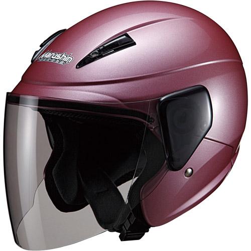 ランキングTOP5 - マルシン バイク ジェットヘルメット 売れ筋 セミジェットヘルメット ローズメタリック 00005202 M-520 フリー
